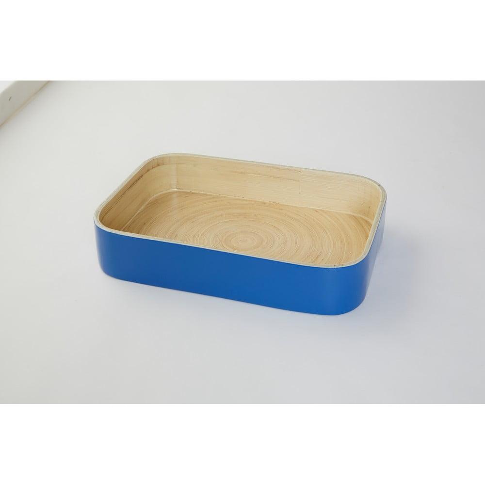 Bambusový podnos Compactor Bamboo Blue, 31 × 22 cm