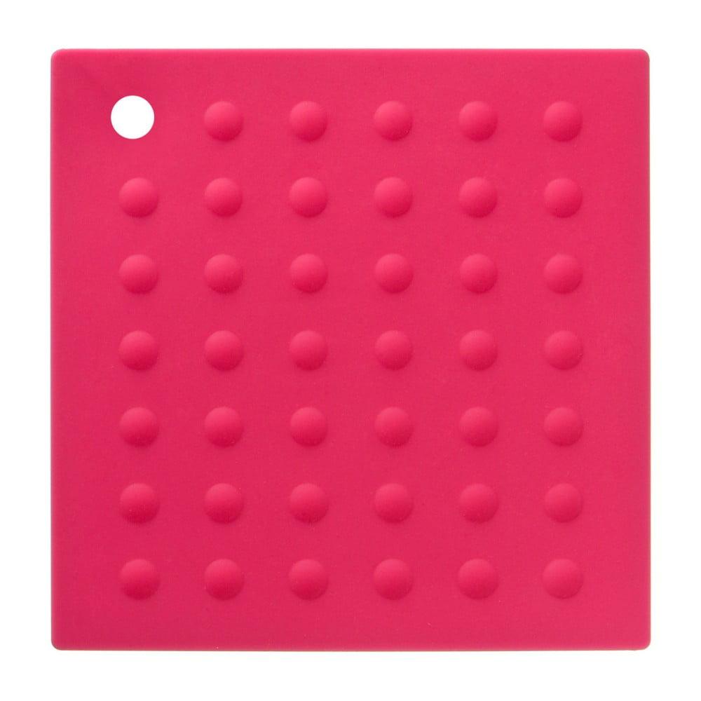 Ružová silikónová podložka pod hrnce Premier Housowares Zing