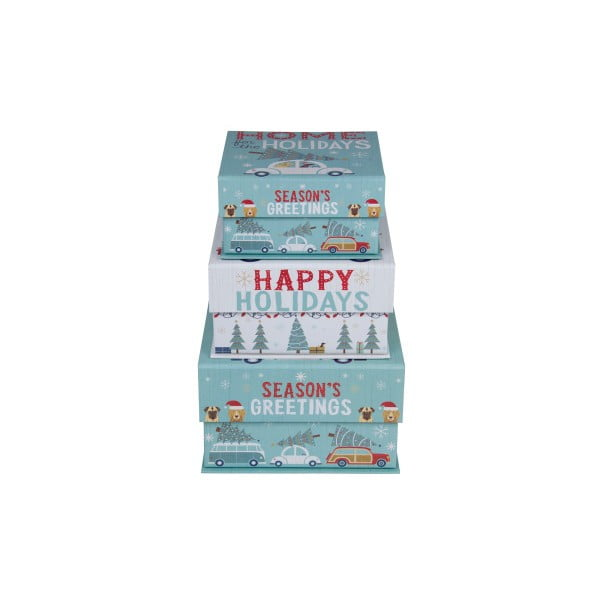 Sada 3 ks malých boxov Tri-Coastal Happy Holidays
