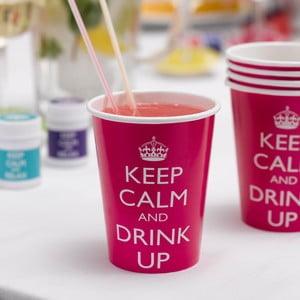 Sada 8 papierových pohárikov Neviti Keep Calm