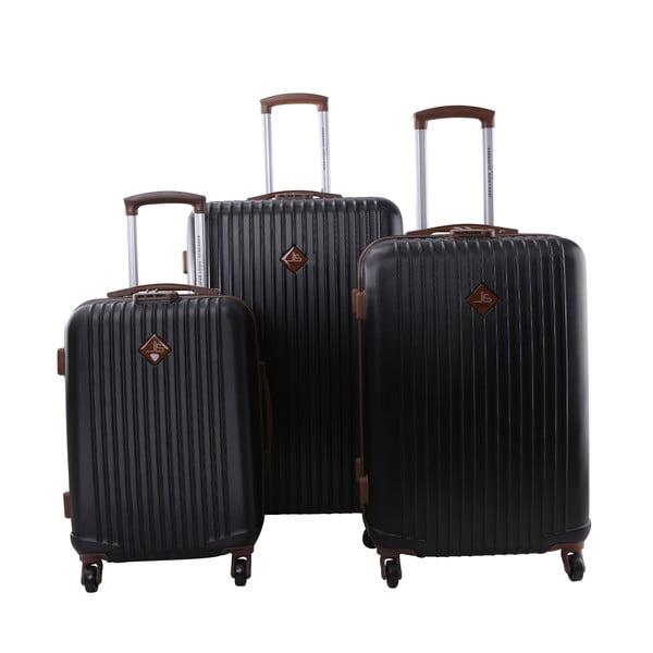 Sada 3 kufrov Jean Louis Scherrer Ensemble Black