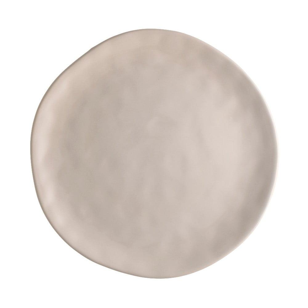 Béžový porcelánový tanier na pizzu Brandani Pizza, ⌀ 26 cm