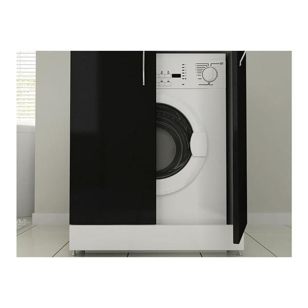 Sada nástennej skrinky a skrine na práčku Mine Black