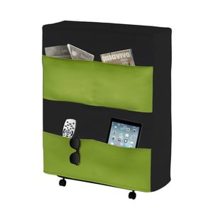 Zeleno-čierna skladacia posteľ 13Casa Brenda