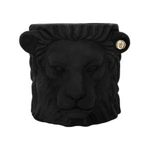 Čierny kvetináč Garden Glory Lion, výška 20 cm