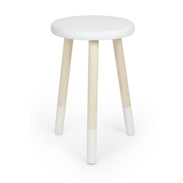 Stolička na sedenie Socks, biela