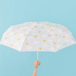 Sivý dáždnik Mr. Wonderful Cloudy, šírka 108 cm