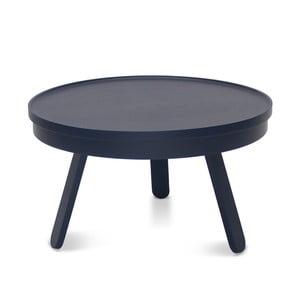 Modrý odkladací stolík z jaseňového dreva s úložným priestorom Woodendot Batea M