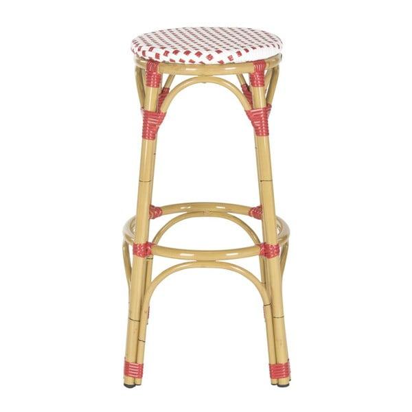 Barová stolička Kiara Red/White