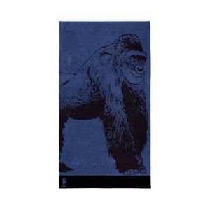 Modrá bavlnená osuška Seahorse Bokito, 180×100cm
