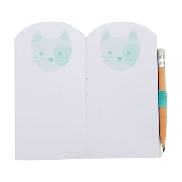Mini zápisník Busy B Cat s ceruzkou