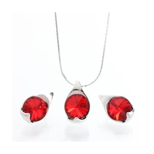Set náhrdelníka a náušníc Laura Bruni Red