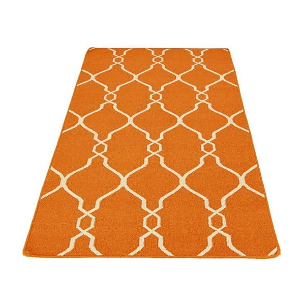 Ručne tkaný koberec Kilim JP 11164 Orange, 90x150 cm
