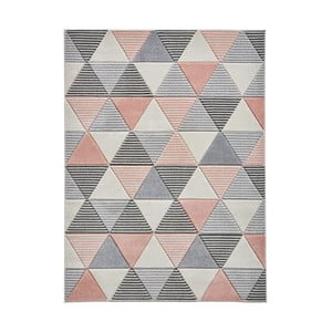 Sivoružový koberec Think Rugs Matrix, 160 x 220 cm