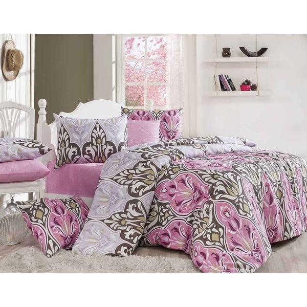 Set obliečok s plachtou Diva Pink, 200x220 cm