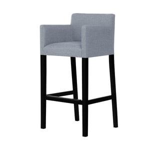 Sivá barová stolička s čiernymi nohami Ted Lapidus Maison Sillage