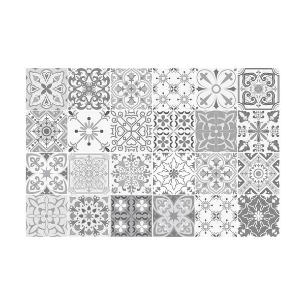 Sada 24 dekoratívnych samolepiek na stenu Ambiance Gythio, 10×10 cm