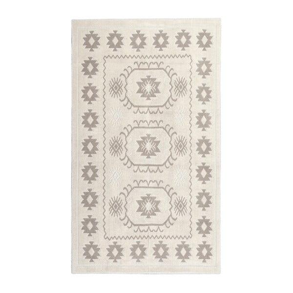 Krémový bavlnený koberec Floorist Emily, 120x180cm