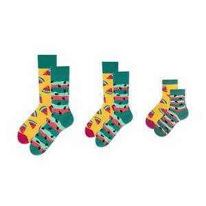 Rodinná sada 3 párov ponožiek v darčekovom balení Many Mornings Watermelon Medium