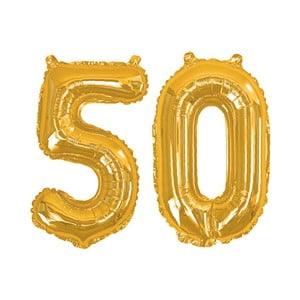 Balónik s číslom 50 Neviti Gold