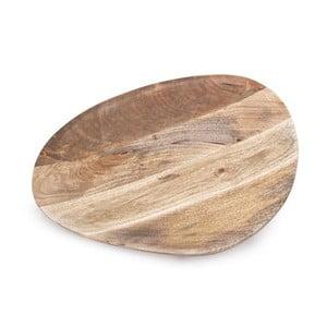 Ručne tvorený drevený podnos NORR11 Odile, 50x42cm