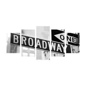 Viacdielny obraz Black&White Broadway