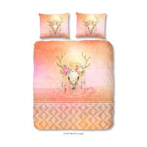 Bavlnené obliečky na dvojlôžko Good Morning Skully Orange, 200×240 cm