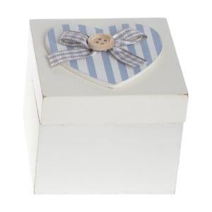 Drevený  box Heart and Stripes