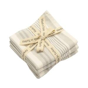 Sada 3 sivo-bielych bavlnených uterákov My Home Plus, 33×33 cm