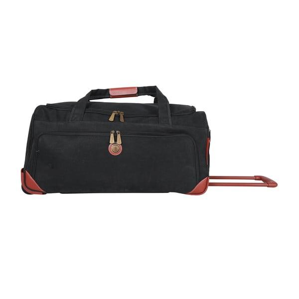 Cestovná taška na kolieskach Jean Louis Scherrer Black, 76.5 l