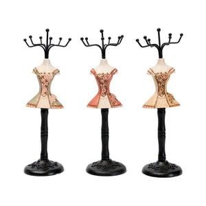 Sada 3 dekoratívnych figúrok Rose Dress