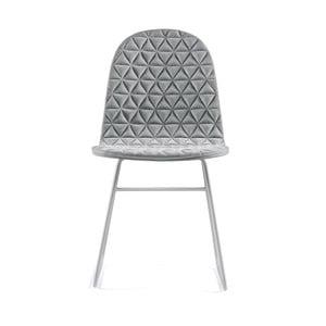Sivá stolička s kovovými nohami IKER Mannequin V Triangle