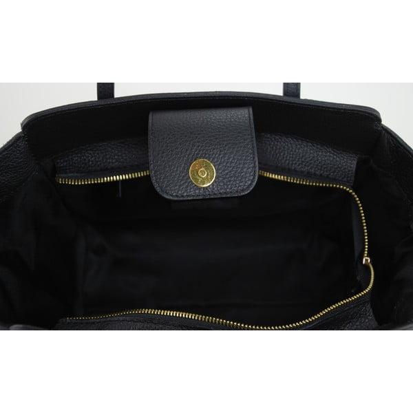 Kožená kabelka Borsa Nero