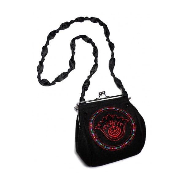 Plstená vyšívaná kabelka Goshico Fiore