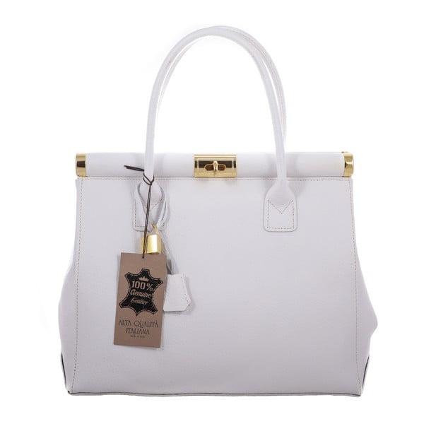 Biela kožená taška Blair