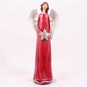 Červený anjel s hviezdou Dakls
