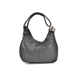 Čierna kožená kabelka Carla Ferreri Andrea
