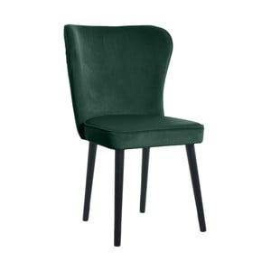 Tmavozelená jedálenská stolička JohnsonStyle Odette Riviera