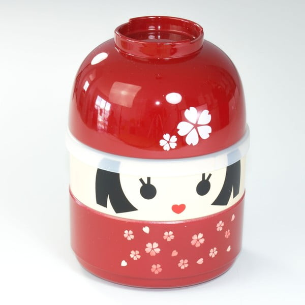 Detský desiatový box Kokeshi Red, 440 ml