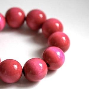Ružový drevený náramok ko–ra–leBubbles