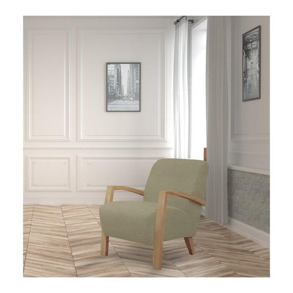 Béžové kreslo so svetlou konštrukciou Windsor & Co. Luna