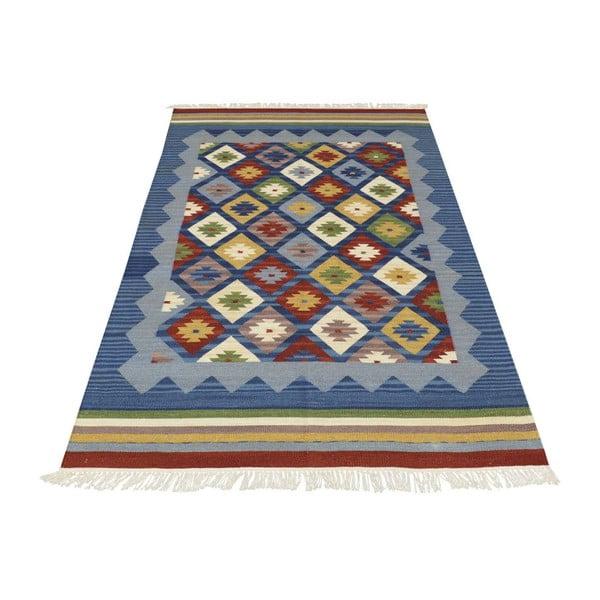 Ručne tkaný koberec Kilim Classic K14 Blue, 125x185 cm