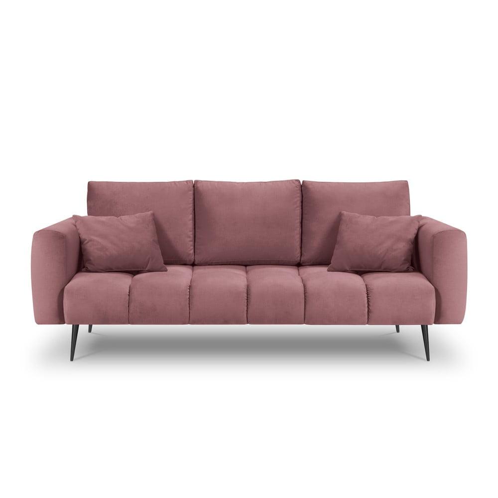 Ružová zamatová pohovka Interieurs 86 Octave