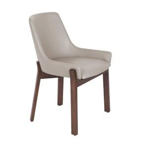 Béžovosivá jedálenská stolička Ángel Cerdá Luna