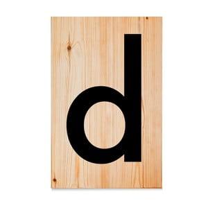 Drevená ceduľa Letters D