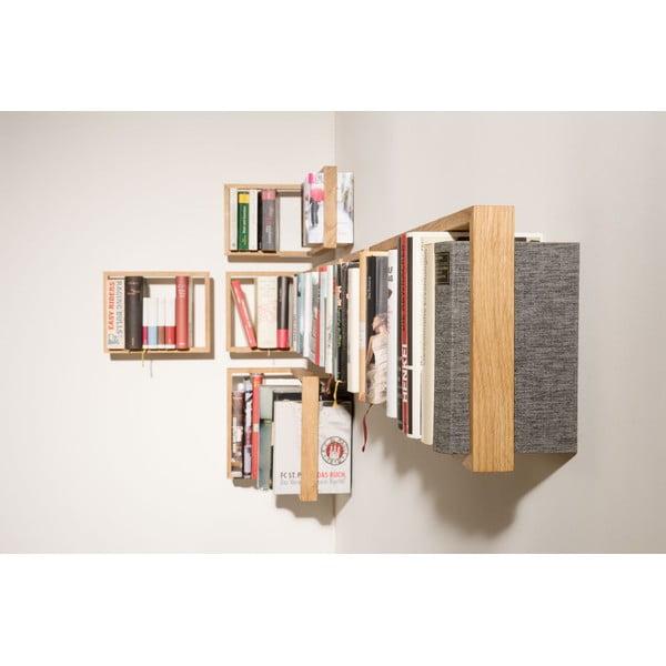 Polica na knihy z dubového dreva das kleine b b2, výška 22cm