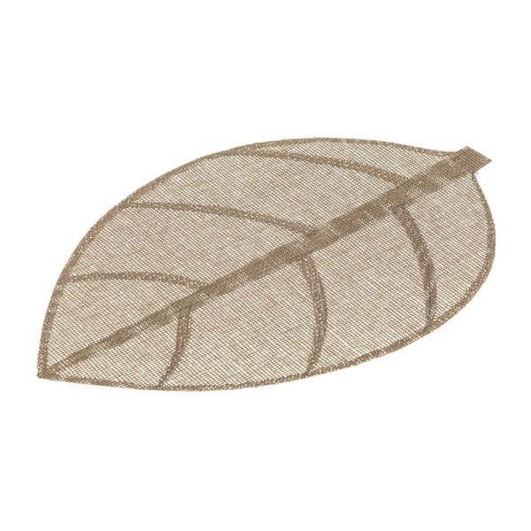 Hnedé prestieranie v tvare listu Unimasa, 50 × 33 cm