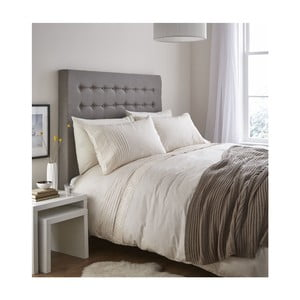 Krémové posteľné obliečky Catherine Lansfield Lace Bands, 135 x 200 cm