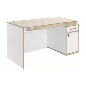 Biely pracovný stôl Dynamic Study Desk