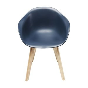 Sada 4 modrých stoličiek Kare Design Forum